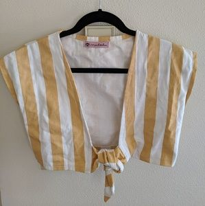 Mulalu, Made in Mexico yellow stripe, cropped top